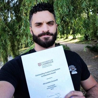 Alessandro Ceccarelli - Outstanding Student Contribution to Education Award (Inclusive Practice) 2019 - University of Cambridge