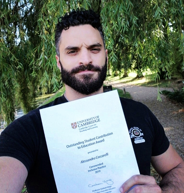 Alessandro Ceccarelli - Outstanding Student Contribution to Education Award (Inclusive Practice) 2019 - University of Cambridge